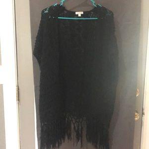 Black sweater type kimono!